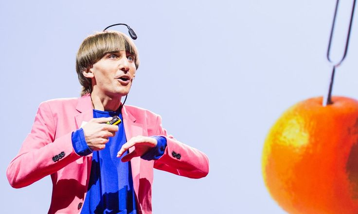 Artist Neil Harbisson was born completely color blind, but these days a device attached to his head turns color into audible frequencies. Instead of seeing a world in grayscale, Harbisson can hear a symphony of color -- and yes, even listen to faces and paintings.