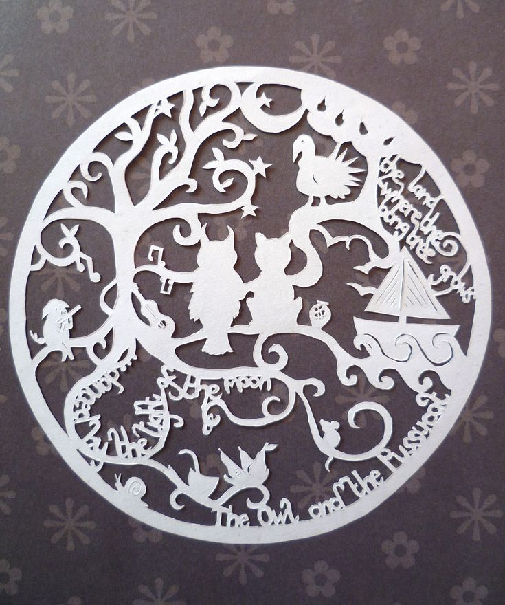 90 best the owl and the pussycat images on pinterest owl for Beautiful paper cutting art