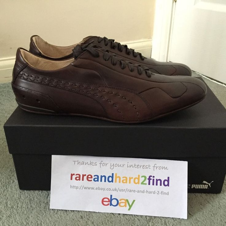 4f0f4807a35 Puma KING RE-LUXE Shoes BROWN UK 9 Black label 96 HOURS Made In Italy NEW  Rare
