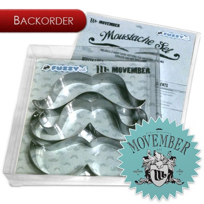 Movember... charity, moustache cookies