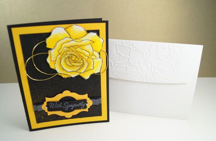 Condolence Card - Deepest Sympathy Card - Sending Condolences - With Sympathy Cards - Word Of Sympathy - Rose Sympathy Card - Sorry Card by LittleLu4U on Etsy
