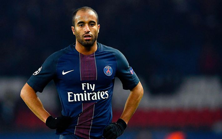 Download wallpapers Lucas Moura, soccer, PSG, footballers, Ligue 1, Paris Saint-Germain, football