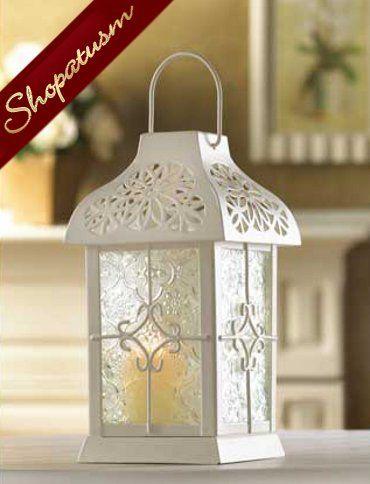 10 Centerpiece White Wedding Daisy Gazebo Candle Lantern on Sale at Shopatusm ~ Wholesale Prices