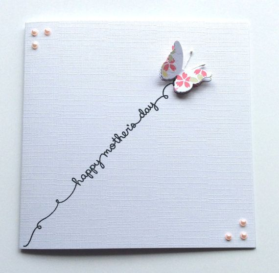 Mother's Day Card  Butterfly Mom Card Card for by BrindavanCrafts