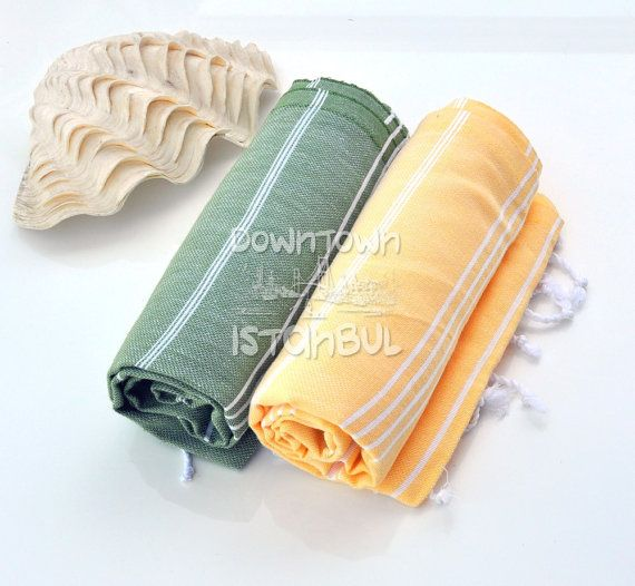 Set of 2 Turkish Bath Towel  Swimsuit Cover Up by DowntownIstanbul, $29.99