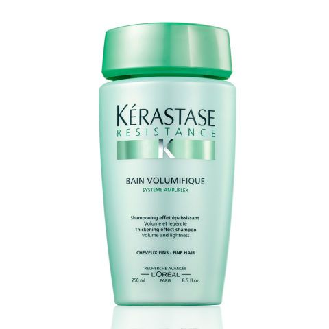 Revitalise hair roots for volume The secret to thicker, healthy hair is a healthy scalp and revitalised roots, and Kérastase's shampoo calms the scalp and stimulates its circulation, while adding texture and volume to the hair. Kerastase Resistance Bain de Force Reinforcing Shampoo, £13.13, Amazon