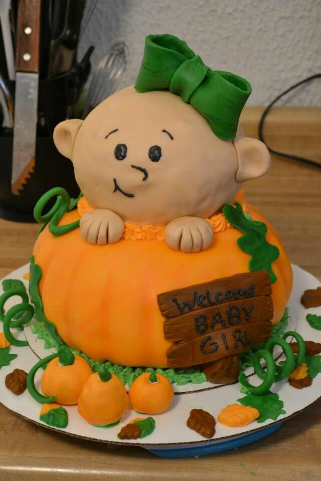 Baby Shower Cakes For Fall on Fall Themed Pumpkin Decorating Ideas