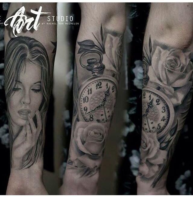 Tattoo. Like the tone of the grey