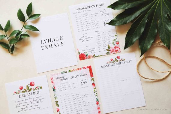 Productivity Planner Productivity Pack by YourCoffeeAndPrints
