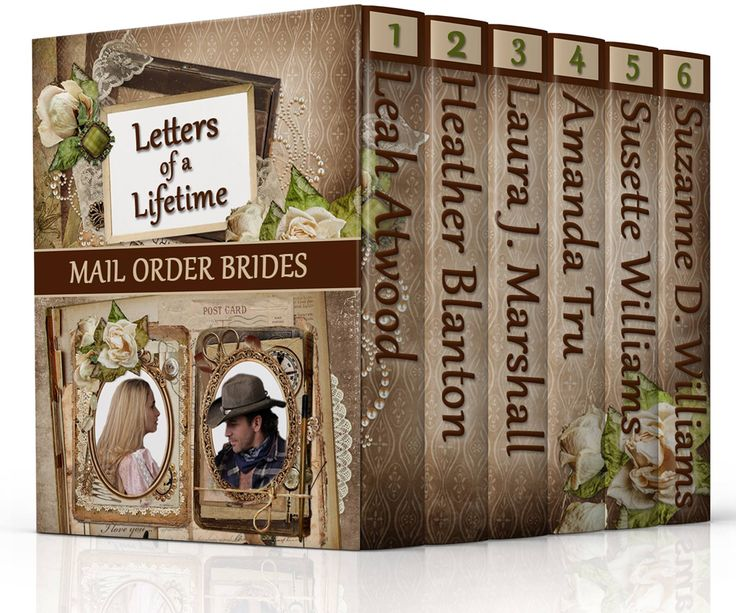 Mail Order Brides: Letters of a Lifetime by Leah Atwood, Heather Blanton, Laura J. Marshall, Amanda Tru, Susette Williams, Suzanne D. Williams. 6 Inspirational, Historical, Western Mail Order Bride Romances. Free! http://www.ebooksoda.com/ebook-deals/mail-order-brides-letters-of-a-lifetime-by-leah-atwood-heather-blanton-laura-j-marshall-amanda-tru-susette-williams-suzanne-d-williams