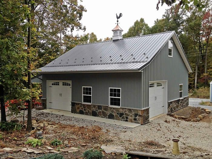 Pole Building And Metal Roofing Pa Md 800 366 4801 Garages Barns Commercial Building A Pole Barn Pole Barn Homes Pole Barn House Plans