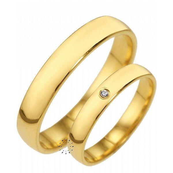 Aliança de Casamento Clássica Ouro 18K 750