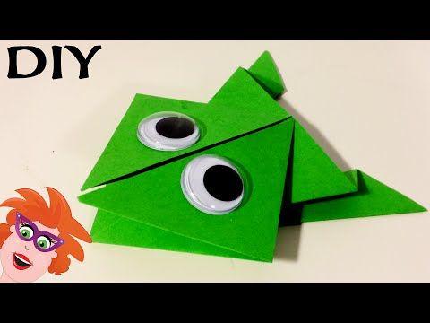 Origami met Juf Jannie - kikker vouwen van papier - YouTube