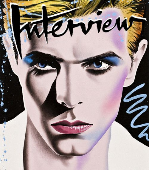 David Bowie by Richard Bernstein. 'Interview' magazine, Andy Warhol.