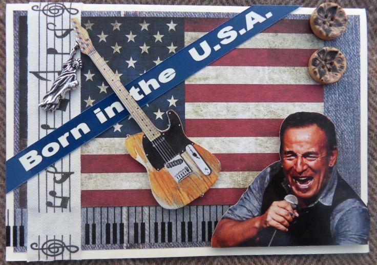 Bruce Springsteen scrapcard - Bruce Springsteen kaart