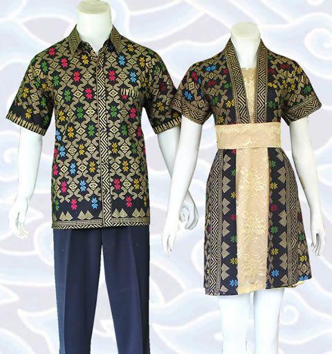 batik couple dress modern sm350 hitam elegant kombinasi katun dan broklat motif batik Solo di http://senandung.net/baju-batik-couple-modern-online/