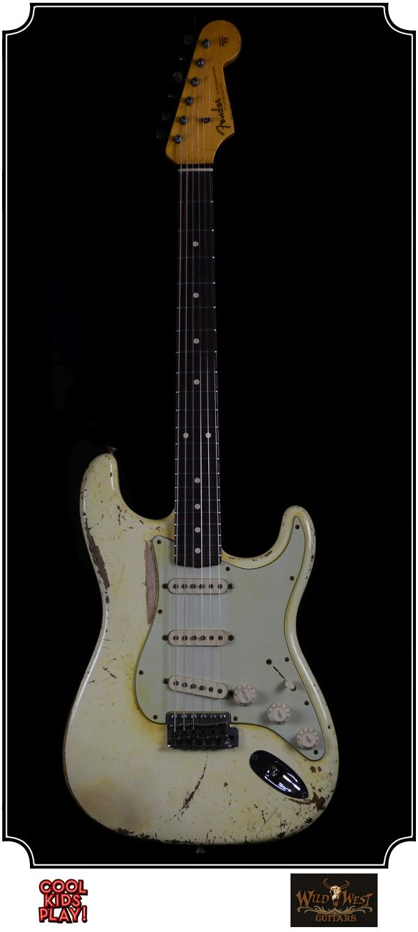 Fender Heavy Relic : 62 Stratocaster Masterbuilt by Dennis Galuska for Wildwest Guitars. Relic'd Olympic White