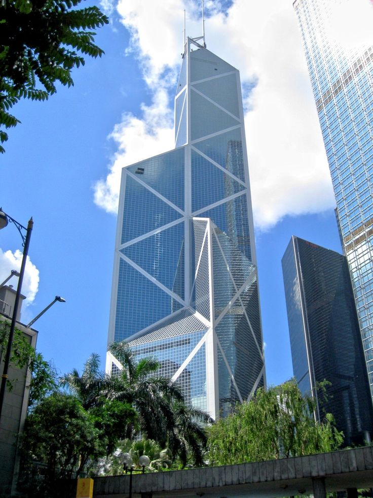 26. Bank Of China Tower in Hong Kong 1205 ft