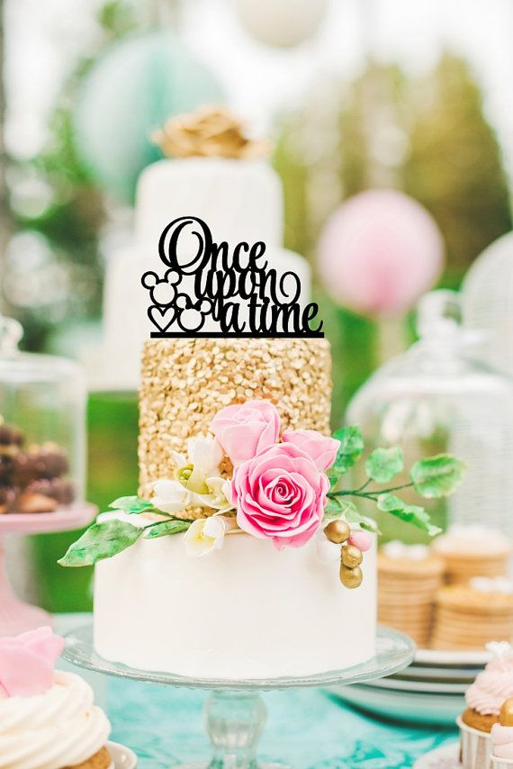 Mickey Wedding Cake Topper  Once Upon A Time by ThePinkOwlDesigns