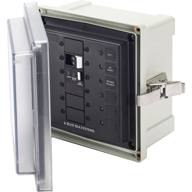 Blue Sea 3118 SMS Surface Mount System Panel Enclosure - 120V AC / 50A ELCI Main - 2 Blank Circuit Positions [3118]