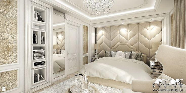 Projektowanie wnętrz w stylu glamour - zdjęcie od ArtCore Design - Sypialnia - Styl Glamour - ArtCore Design