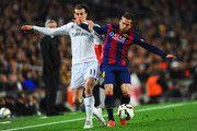 Gareth Bale del Real Madrid CF batallas con Jordi Alba de Barcelona durante el partido de Liga entre el FC Barcelona y el Real Madrid CF en el Camp Nou el 22 de marzo de 2015, de Barcelona, España.