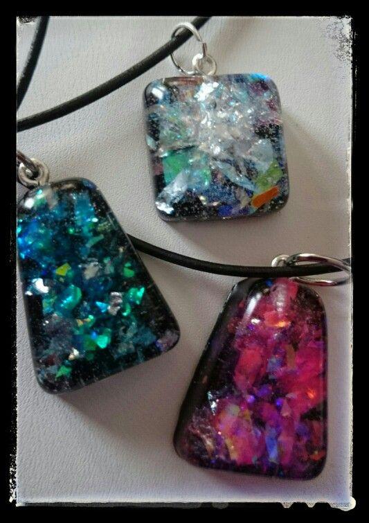 Ice resin jewellery by HM-koru.