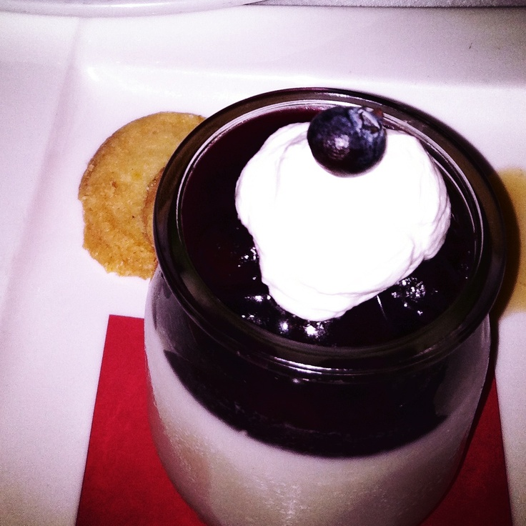 Blueberry panacotta from David Burke Fishtail