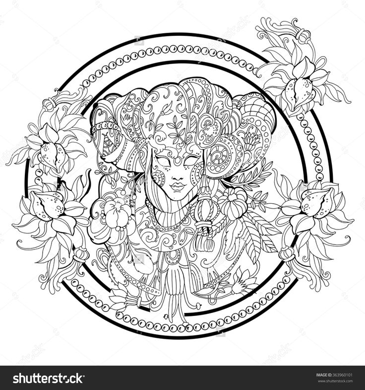 Coloring Pages For Adults Masks : Beste afbeeldingen over coloring mask op pinterest