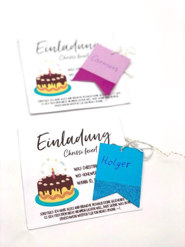 Einladungskarten selbst gestalten. DIY Geburtstagskarten selber machen. So einfach könnt Ihr Euch Einladungskarten für Eure Party basteln. Mit kostenloser Vorlage zum Ausdrucken. Einladungen zum Geburtstag selber machen, schnell und einfach basteln mit Free Printable.