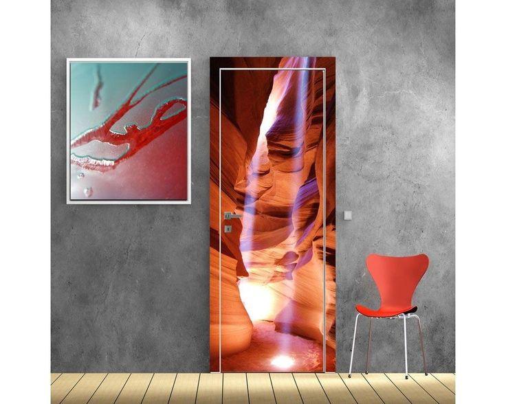 Φαράγγι με αχτίδες ήλιου, αυτοκόλλητο πόρτας , δείτε το!