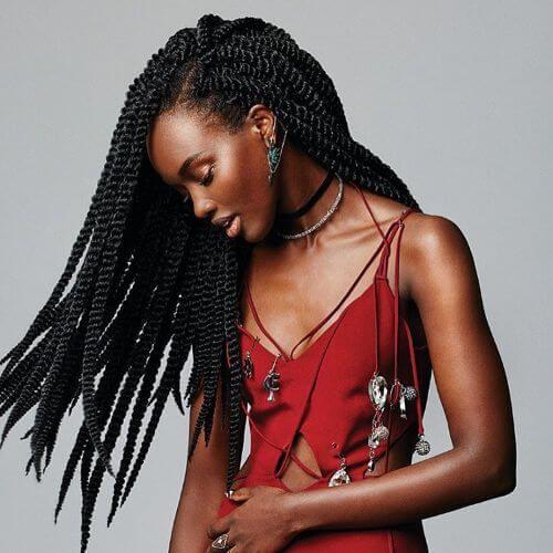 long twist braids