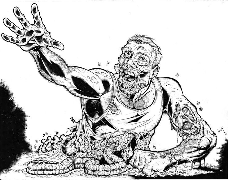 Zombie Coloring Pages For Adults And Teens