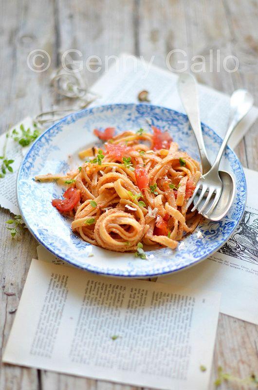 pasta with trapanese pesto