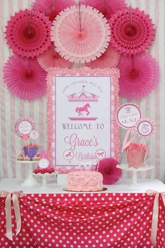 DIY Carousel Birthday PARTY PACK by LaurenHaddoxDesigns on Etsy