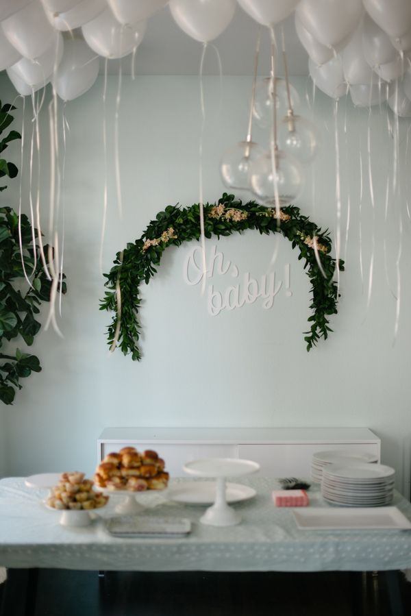Sweet floral baby shower