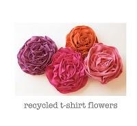 recycled t-shirt flowersTshirt Flower, Tees Shirts, T Shirts Flower, Fabric Flowers, Flower Tutorials, Make Flower, Fabrics Flower, Diy, Crafts