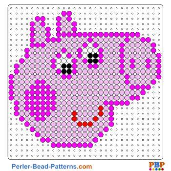Peppa pig la famille cochon en perles hama perler peppa pig hama beads og fuse beads - Fusee peppa pig ...