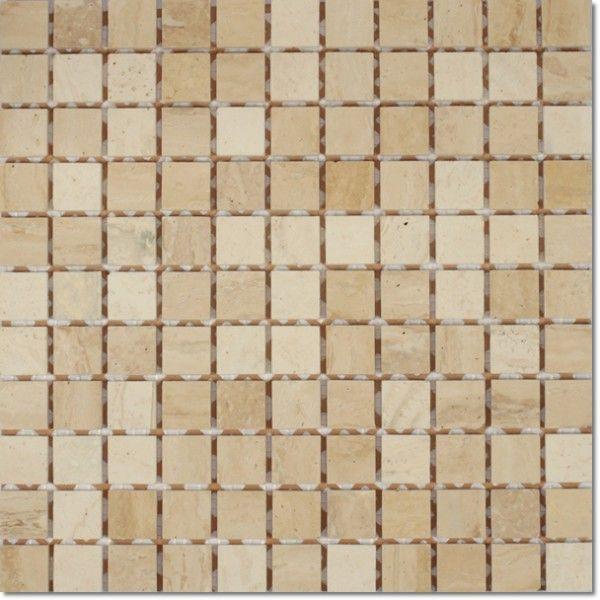 Dell'Arte - mozaiki dekoracyjne Botticino Lappato 25 (plaster 30x30)