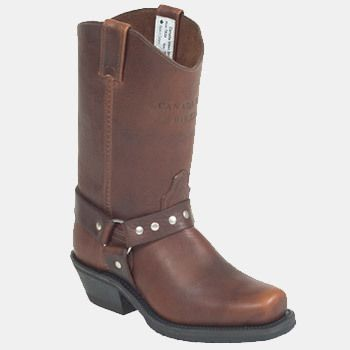 Canada West Ladies Biker Boots - Pecan Tumbled sweet