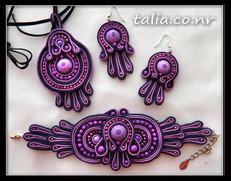 soutache handmaid jewelry by ~caricatalia on deviantART