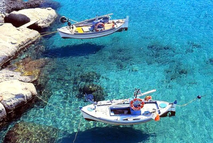 The symbol of Greece in the crystal clear Waters of Kimolos Island.