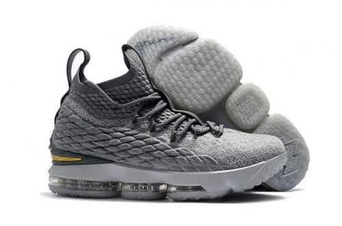 2b12a538257 2018 Nike LeBron 15 City Edition Grey Gold For Sale