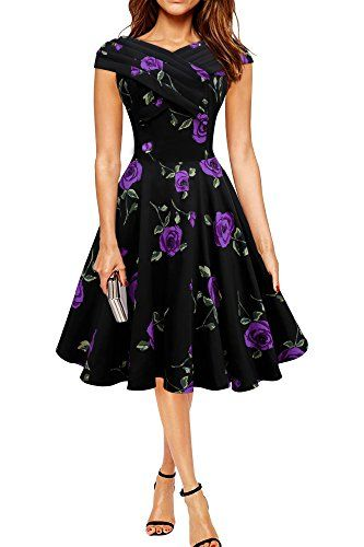 Black Butterfly 'Enya' Vintage Infinity Pin-up Dress (Large Purple Roses, US 16) Black Butterfly Clothing http://www.amazon.com/dp/B014HGHSIY/ref=cm_sw_r_pi_dp_g.BCwb1DA2VRD