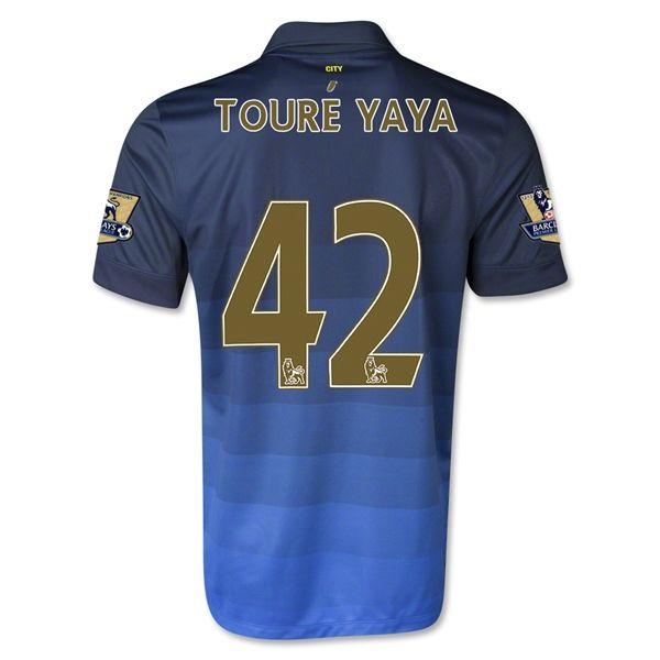 Camiseta Manchester City Alterna 14/15 TOURE YAYA#42 *Envío Gratis!  * Facebook: MundoFutbol