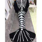 Thicken Fish Skeleton Wrap Halloween Mermaid Blanket