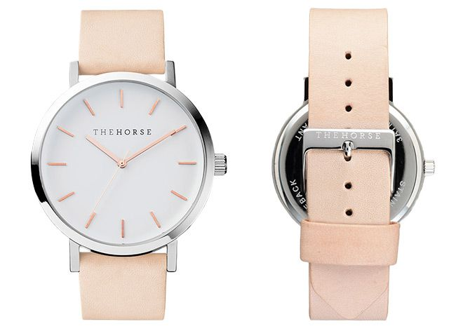Polished Steel / White Face with Rose Gold Indexing | The Original | The Horse
