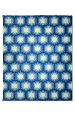 Dhurrie designer series - Icon blue fenton snd fenton