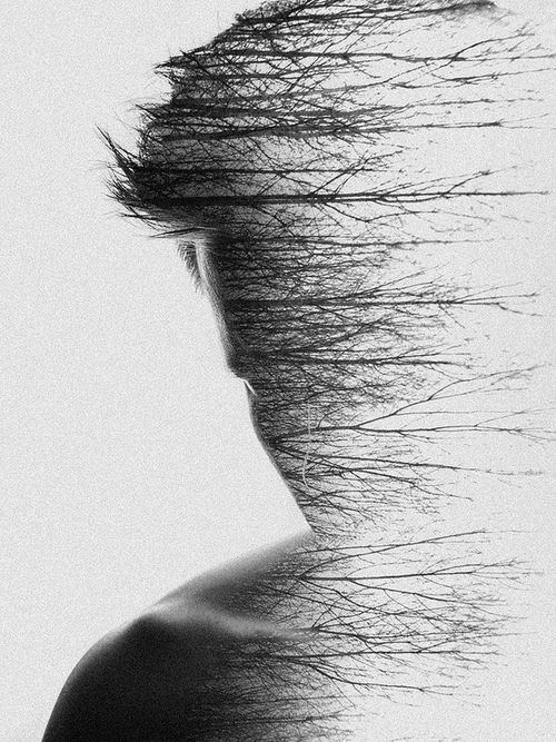 double exposure - human nature | typography / graphic design photography: Simon Hart |