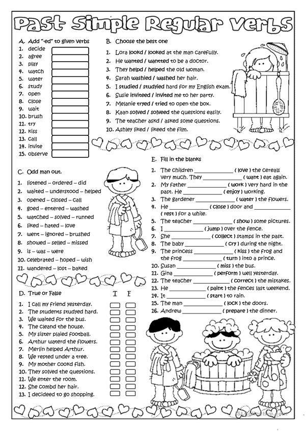 Past Simple Regular Verbs Pasado Simple Ingles Ejercicios De Ingles Material Escolar En Ingles